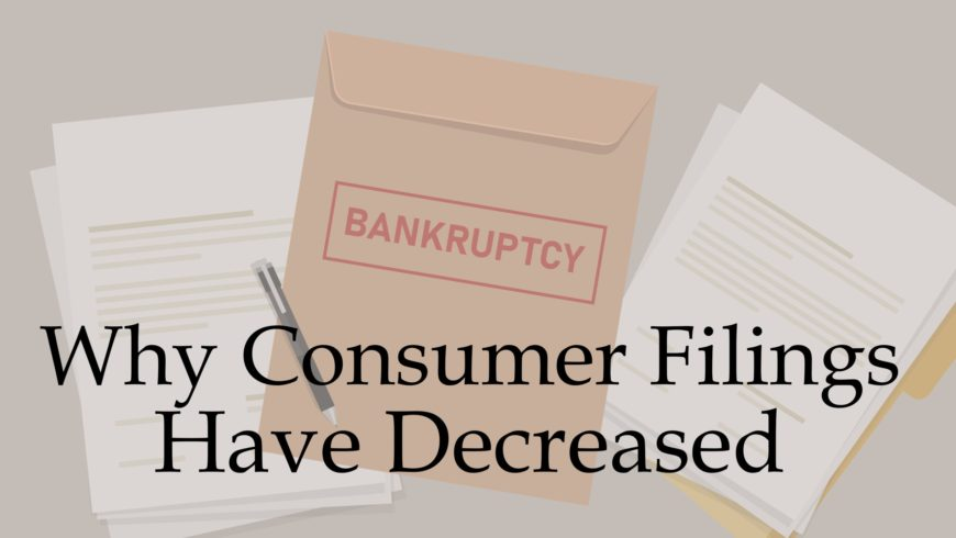 Covid Update – Why Consumer Bankruptcy Filings Have Decreased Since March 2020